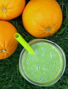 ADDICTED to VEGGIES: Green Orange Creamsicle Smoothie or an Ode to Orange Julius