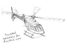 Today's lesson is devoted to those who love flights and turns. I will tell you how to draw a helicopter. A helicopter is a Drawing Prompt, Drawing Tips, Drawing Sketches, Sketching, Cool Art Drawings, Pencil Art Drawings, Airplane Drawing, Industrial Design Sketch, Step By Step Drawing