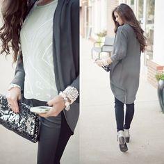 mint & grey #kimono #swoonboutique