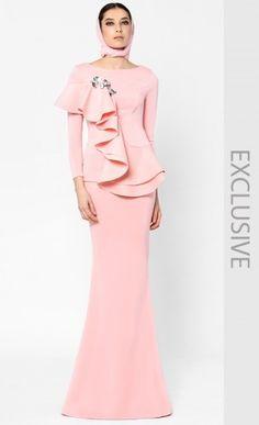 Kurung Johor Bahru in Blush Pink, Woo/Fiziwoo