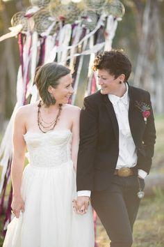 Butch lesbian wedding