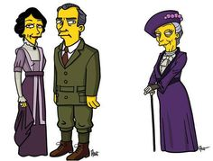 Downton Abbey simpsonized