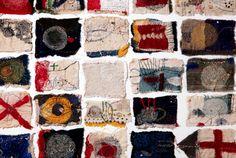 Junko Oki Textiles Artist Study for #CAPI @Milliande.com #textiles, #boro #stitching #embroidery #art #cloth #thread