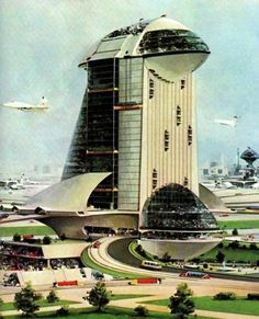 Retro-futurism in French Children's Encyclopedias, 1945-1975 | Retronaut  'Elevators in the city of the future'