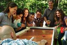 How to build your own shuffleboard-style Ricochet game table for hours of fun with friends and family. | Photo: Room 5 Films | thisoldhouse.com
