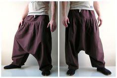 Brown Harem Pants - Yoga Pants - Aladdin Pants - Harem Trousers - Cotton Afghani Pants - Zouave Pants - Alibaba - Men - Woman