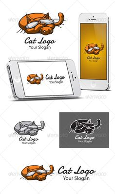 Cat Logo  #GraphicRiver         An excellent logo template highly suitable for games, shop, pet shop, hotel, bed&breakfast, restaurant, app, forum etc.   Fully layered logo template. All colors and text can be modified.   Files : AI, EPS