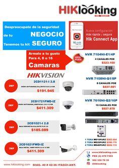 Ofertas en cámaras ip Hikvision mejor calidad mas funcionalidades de vídeo-vigilancia.