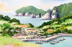 욕지도 story 53.0 x 40.9cm watercolor dn ppaper watercolor by Jung in sung