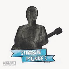 Shawn Mendes Silhouette (instagram: wikearts)