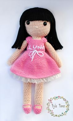 Muñeca de ganchillo. Crochet doll. ♡ lovely doll