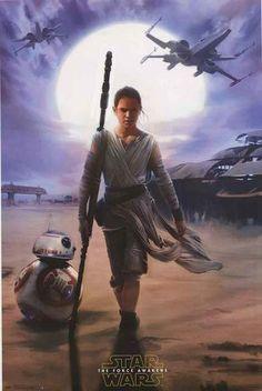 An awesome poster from Star Wars: The Force Awakens! Rey and BB-8 head out to do some scavenging on the desert planet Jakku. Fully licensed. Ships fast. 22x34 i