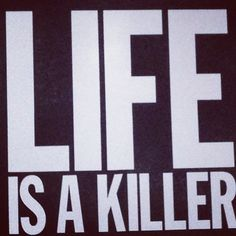 Life is a killer (Palais de Tokyo) Assassin's Creed Motto, Typography Quotes, Typography Design, Words Quotes, Sayings, Artwork Images, Word Up, Dark Matter, Some Words