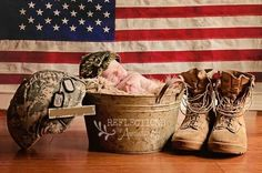 Love this military newborn