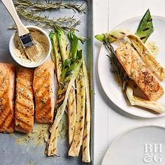 Adding herbs and mustard to butter is a clever way to elevate grilled ingredients. When brushed on the hot food, the butter melts into a rich sauce.