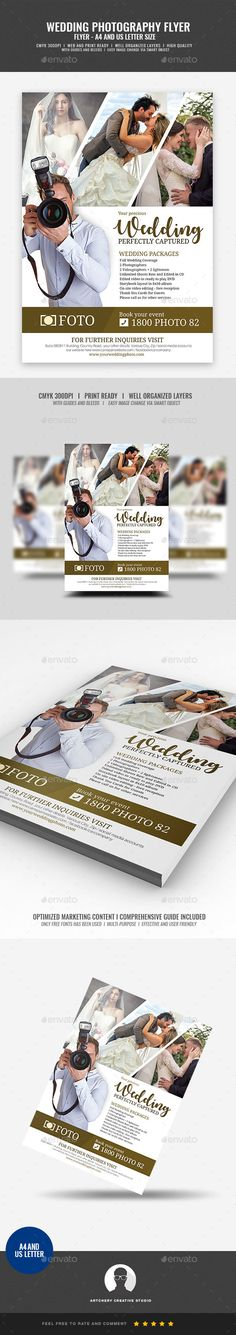 #Wedding Photography Services Flyer - #Corporate #Flyers