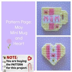 """Mini Mug (and Heart) for Mom -- pattern by """"Ready, Set, Sew!"""" by Evie (on Etsy)"""
