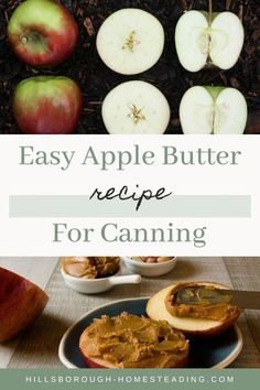 This old fashioned apple butter recipe couldn't be easier! Simply slow cook apples until you get a rich, thick butter. Perfect for muffins, banana bread, or spread on apple rings! You can use a crock pot or Instant Pot with this recipe and canning instructions are included. Check it out to see how easy it is to make your own homemade apple butter today! | Hillsborough Homesteading #apples #canning #foodpreservation #preserving #homecanning #canningrecipes #recipe #applebutter Old Fashioned Apple Butter Recipe, Homemade Apple Butter, Easy Butter Recipe, Canning Apples, Canned Meat, Food Mills, Apple Harvest, Healty Dinner, Cooked Apples