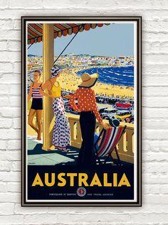 Vintage Poster of Australia 1920 Tourism poster by OldCityPrints, $22.00