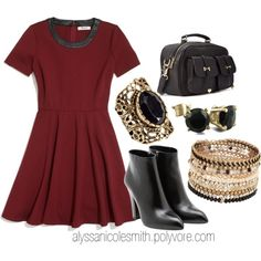 """""""Thanksgiving Day Outfit 02"""" by alyssanicolesmith on Polyvore"""