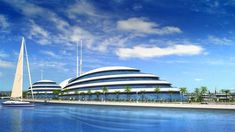 Amazing architecture of luxury floating resort in Qatar