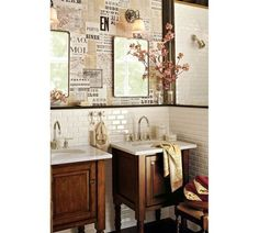 Magnolia Home Wallpaper York Wallcoverings shiplap and newsprint patterns brick and mortar toile