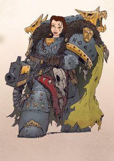 Les Princesses Disney en Space Marines de Warhammer : Belle