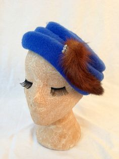 1950s DIAMOND and MINK Royal PILLBOX Hat by HousewifeVintage, $59.00