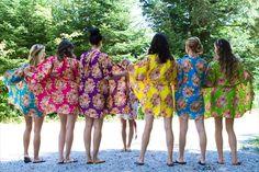 Bridesmaids robes  7 Kimono Crossover Robes Wrap by silkandmore, $175.00