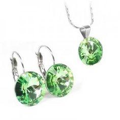 - Oceľový set so Swarovski krištálmi Swarovski, Green, Earrings, Jewelry, Ear Rings, Stud Earrings, Jewlery, Jewerly, Ear Piercings