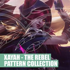Xayah The Rebel - League of Legends - Armor Pattern Collection: Bracer - Feathers - Skull -  Belt - Cosplay - Blueprint - Pattern - DIY