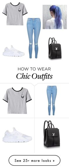 """""""Street chic"""" by rebecca-laceyy on Polyvore featuring New Look, Chicnova Fashion and NIKE"""