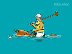 """This is what I do when I say Im going to play something called """"Water Polo""""....obviously"""