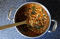 white bean and chard stew Turned out fantastic. Make again. Good for Monday night.  Diced tomatoes instead.
