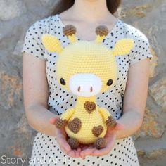PATTERN: Cuddle-Sized Giraffe Amigurumi, Crocheted Giraffe Pattern, Giraffe Toy Tutorial, PDF Crochet Pattern