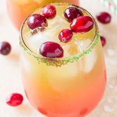 HOLIDAY PUNCH A quick and easy Holiday Punch made with orange juice, limeade, cranberry juice and 7UP!   I love a good Holiday Punch, and this one not only has the flavors of the season, but it also has the colors. Doesn't it look pretty!?   This Holiday Punch has orange juice, limeade, cranberry juice cocktail …