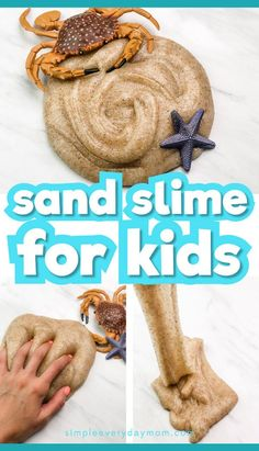 This easy sand slime is a fun indoor activity for kids at home. Whether it's a rainy day, winter or it's too hot out, this simple sensory fun is engaging for boys and girls! Learn how to make this slime with our step by step tutorial and mes Straw Activities, Activities For Boys, Indoor Activities For Kids, Summer Activities, Slime Sans Borax, How To Make Sand, Sand Slime, Rainy Day Fun, Slime For Kids