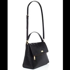 Kate Spade Black Leather Handbag Excellent condition on the inside and out. Very clean. Black leather with gold hardware. Removable cross body strap. kate spade Bags Crossbody Bags