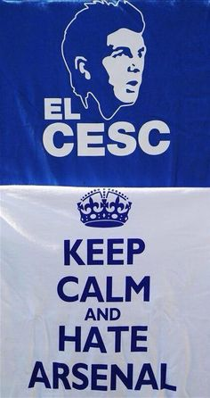 El cesc fabregas Chelsea FC Cfc keep calm and hate arsenal