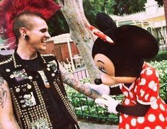 """Mickey look! A punk guy"""