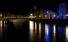 Arno river in Pisa at night during high water Dec 2012 - See more at: http://www.zzvsl.com/photography