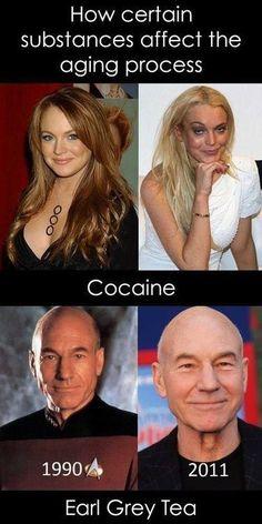 Substances affecting aging - lindsay lohan,The Next Generation,Star Trek,Patrick Stewart