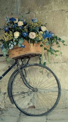 ARE you in search for vintage wallpaper than you are at right place .GODFATHER STYLE has collected the best vintage wallpapers for retro look. Bicycle Basket, Old Bicycle, Bicycle Art, Old Bikes, Bike Baskets, Retro Bicycle, Vintage Bicycles, Flower Basket, Vintage Flowers
