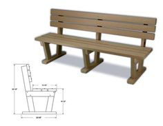 Backrest Bench Picnic TableDining TableBenches