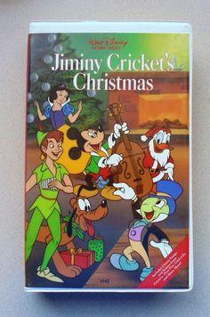 Walt Disney's Jiminy Cricket's Christmas RARE Clamshell VHS OOP Animated *TESTED