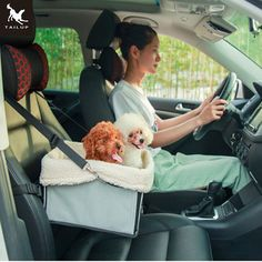 TAILUP 7Colors Fashion Car Travel Accessories Carrying Small Pet Dog Cat Foldable Pet Booster Car Seat  34*29*18cm