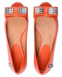 Tangerine Ballet Flat