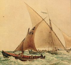 Joseph Conrad could have sailed on board this latin-rigged pilot-boat N°6 of Marseille, painted by Antoine Roux.