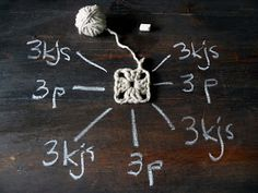 omⒶ KOPPA: VIRKKⒶUSOHJE - isoäidinneliö Crochet Abbreviations, Doilies, Embellishments, Easy Diy, Crochet Patterns, Weaving, Knitting, Handmade, Crafts