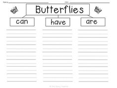 FREE Butterfly Graphic Organizers! Includes a venn diagram and flow map from One Sassy Teacher.